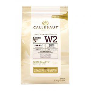 Imagen del paquete de 2 kilos y medio de Cobertura de Chocolate Blanco Callebaut